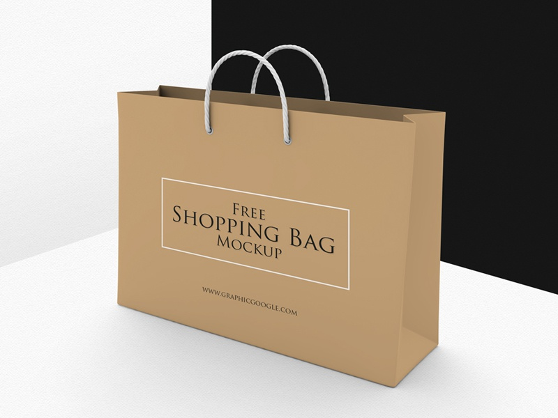 Free Shopping Bag Mockup Psd Template By Graphic Google Dribbble