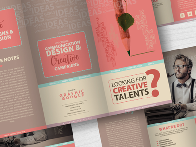 Free Creative Tri Fold Brochure Template With Psd Mockup By Graphic