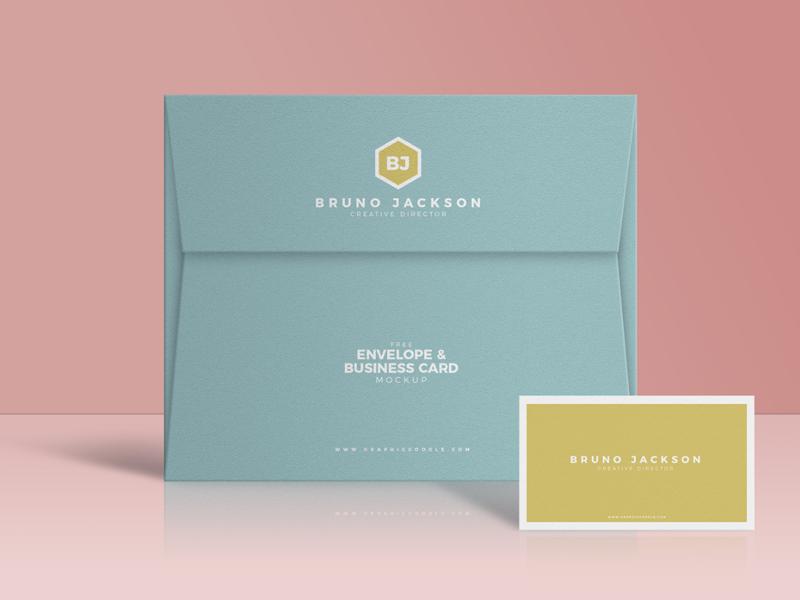 Free Envelope & Business Card Mockup PSD free freebies free mockup mockup