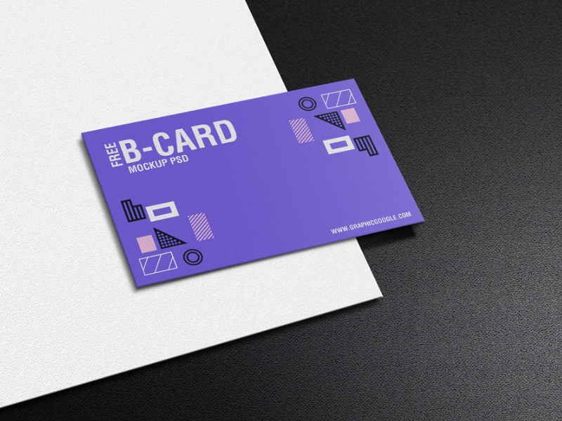 Free Texture Business Card Mockup PSD