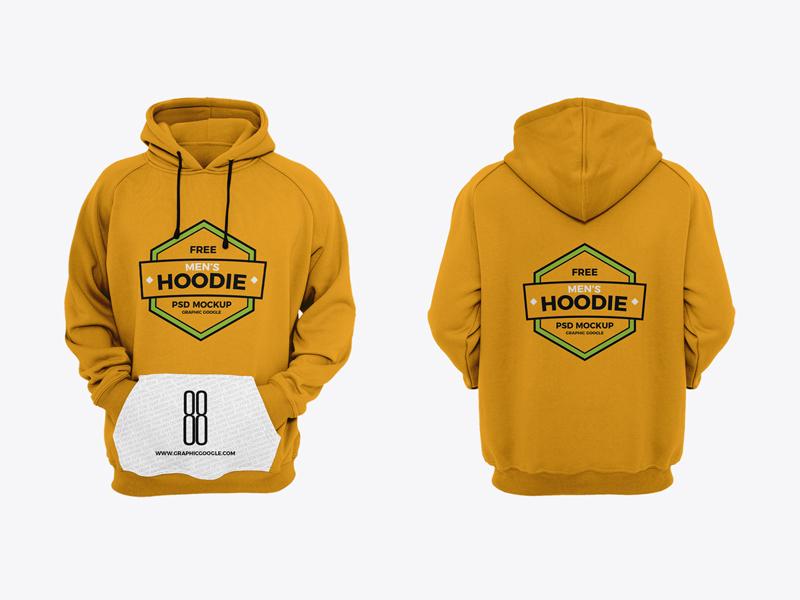 Free men s hoodie mockup