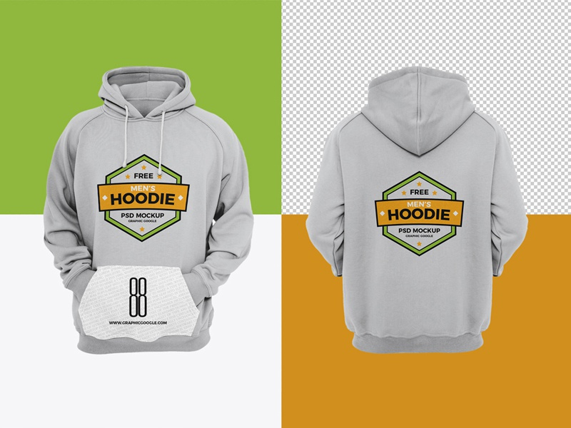 Download Free Men's Hoodie Mockup by Graphic Google | Dribbble ...