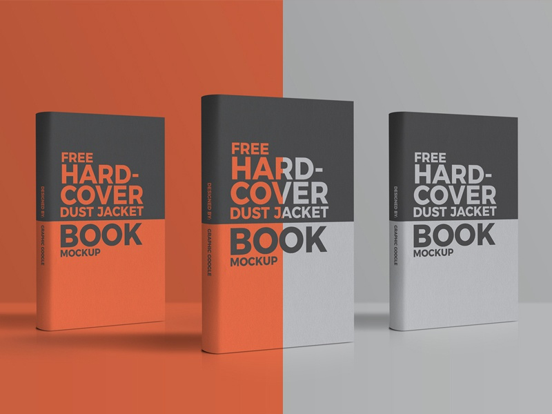 Free Hardcover Dust Jacket Book Mockup
