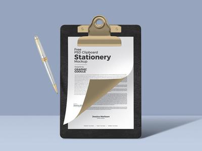 Free Psd Clipboard Stationery Mockup
