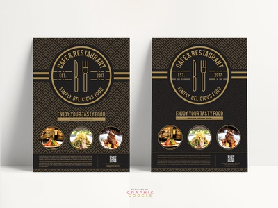 Free Cafe Restaurant Flyer Template By Graphic Google Dribbble