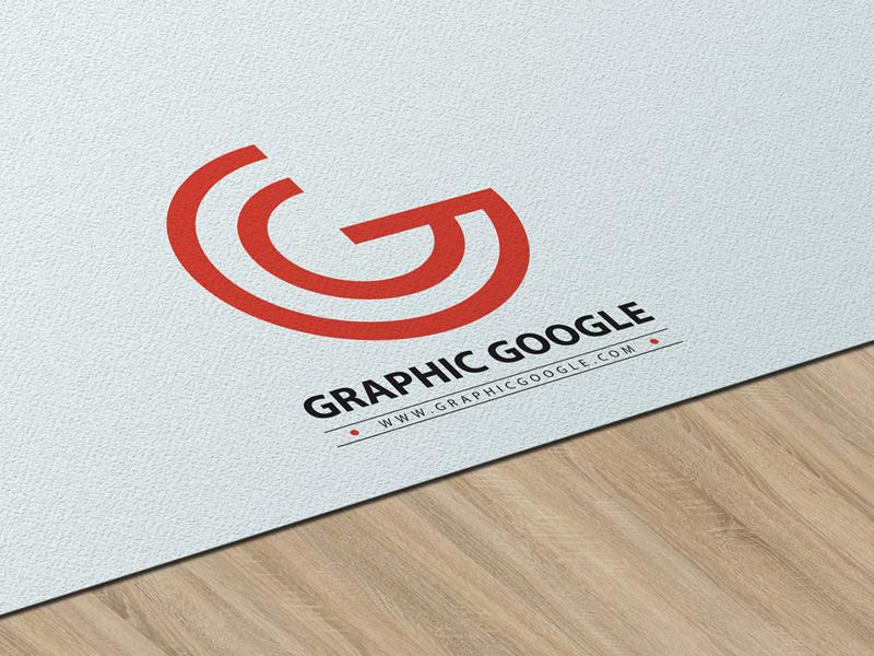 Free Texture Paper Logo PSD Mockup