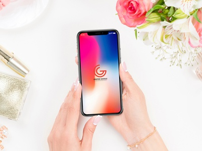 Free Beautiful Woman Using iPhone X PSD Mockup mockup template free psd mockup freebie free mockup mockup free psd mockup mockup iphone x iphone x mockup