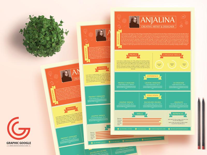 Free creative resume template for creative artist   designers