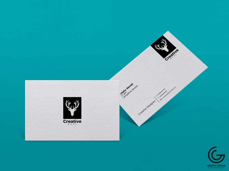 Free Textured Business Card Branding Psd Mockup by Graphic Google ...