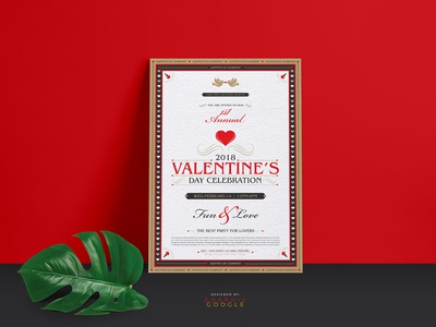 Free Valentine Flyer Template By Graphic Google Dribbble
