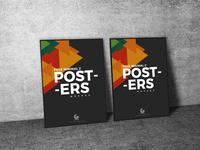 Free Minimal 2 Posters Mockup