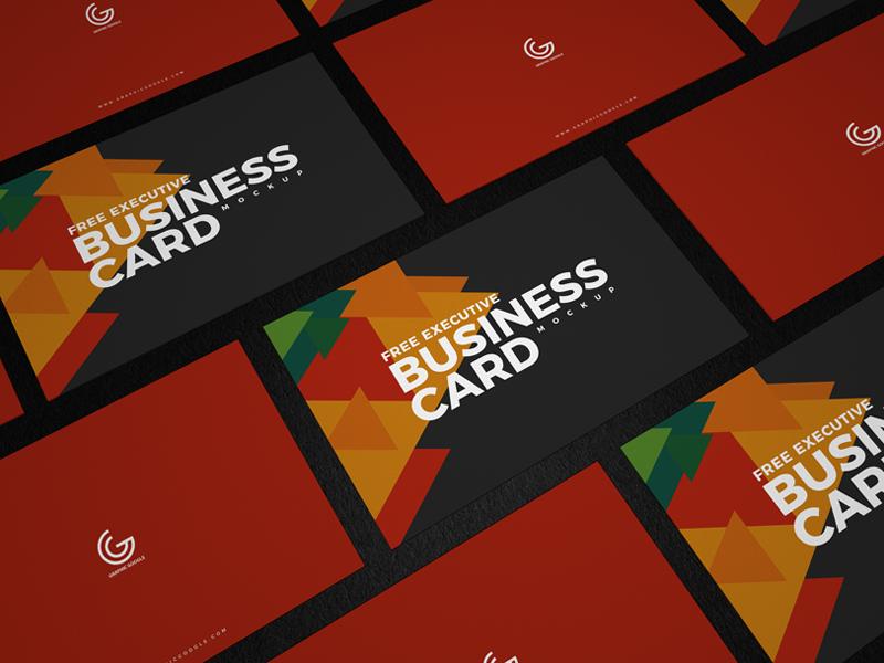 Free Executive Business Card Mockup design graphic ui template freebie mockup psd mockup free free mockup business card mockup business card