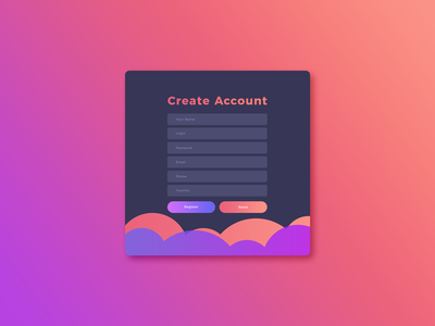 Free UI GUI, UX Create Account Screen Template PSD web designers psd free template freebie app web screen template gui ux ui