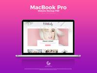 Free Macbook Pro Website Mockup Psd For Screens 2018