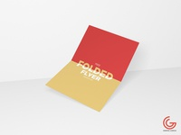 Free Centre Folded Flyer Mockup 2018