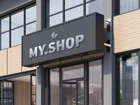 Free Psd Shop Facade Mockup