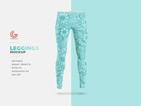 Free Fashion Leggings Mockup