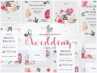 Free Modern Wedding Invitation Templates