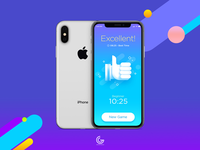 Free iPhone X Mockup Psd For Screens