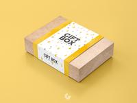 Free Craft Paper Gift Box Mockup PSD 2018