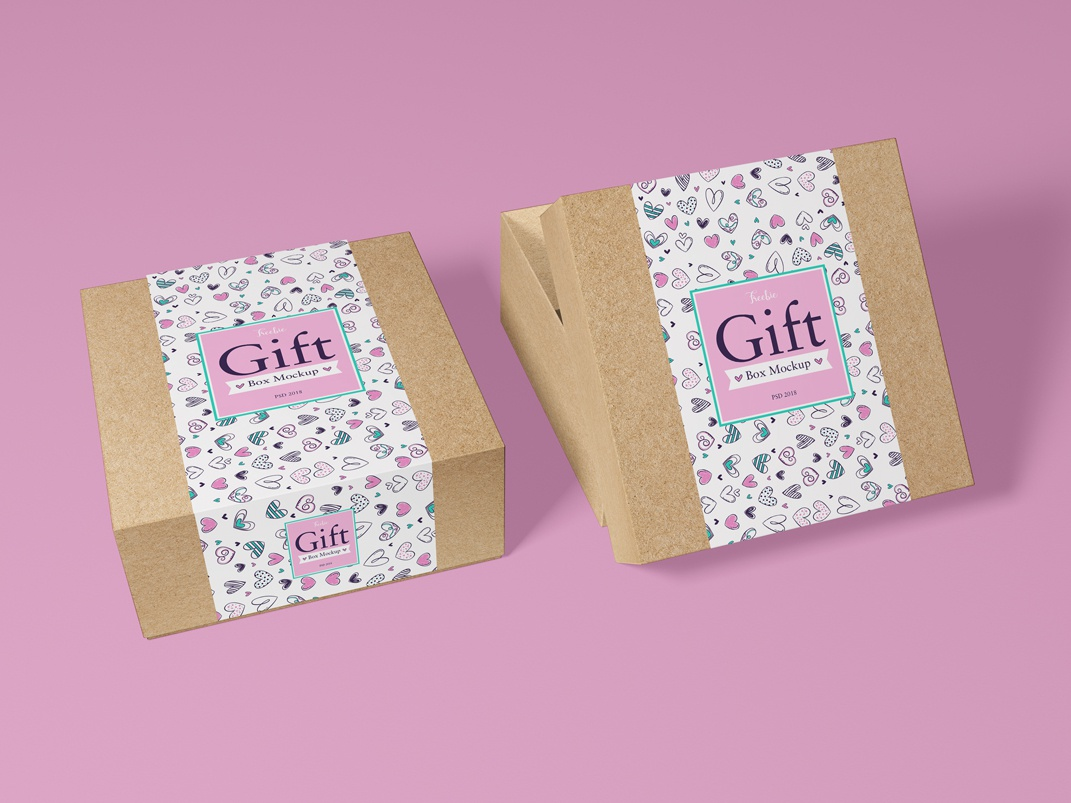 Free Packaging Craft Paper Gift Box Mockup PSD template freebies branding mockup psd free psd mockup psd mockup free mockup template psd mockup free free mockup mockup freebie packaging packaging mockup box mockup gift box mockup craft paper gift box mockup