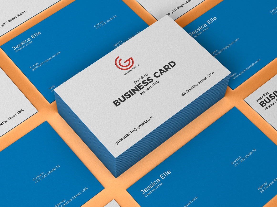 Free Branding Business Card Mockup By Graphic Google Dribbble
