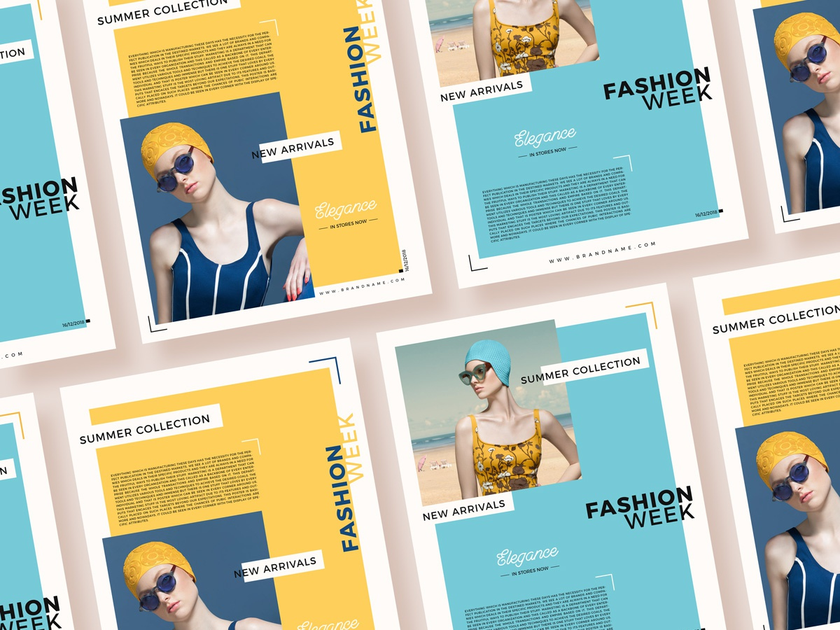 Free summer collection fashion flyer templates for 2019 600