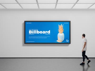 Free Indoor Advertising Billboard Mockup PSD