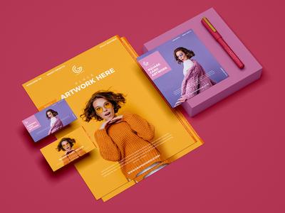 Free Branding PSD Stationery Mockup Design 2019