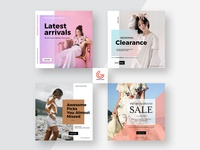 Free Social Media Square Promotion Banner Templates
