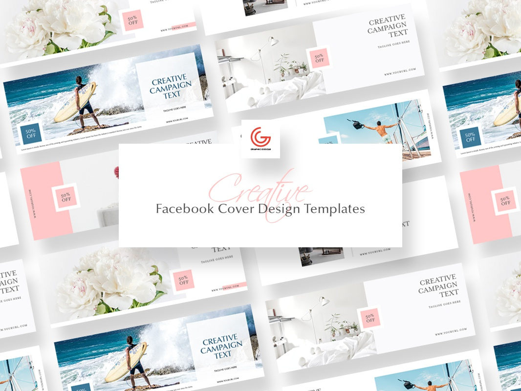 Free Creative Facebook Cover Design Templates by Graphic