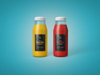 Free Juice Bottle Mockup 1
