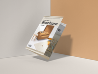 Free Letter Size Half Fold Brochure Mockup