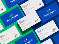 Free Brand Stylish Business Card Mockup