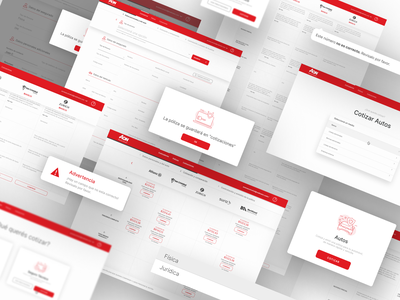 AON Advance - UI Design illustration screens research consulting ui ux design platform web app enterprise advance insurance aon
