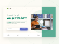 Shopify website exploration exploration website hero shopify web design ux ui