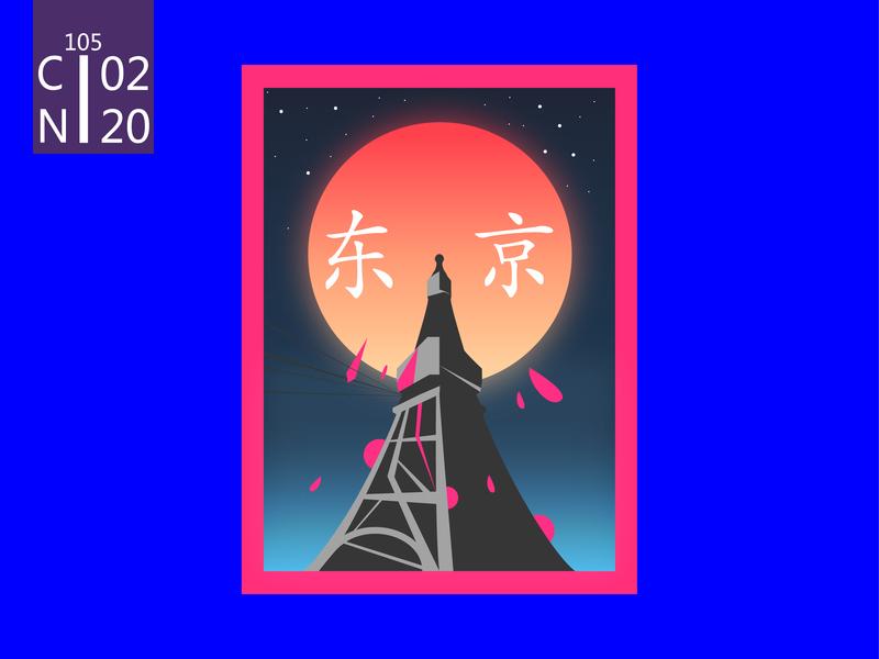Tokyo poster posters illustration design art ai