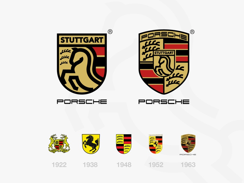 Porsche Logo Designs Themes Templates And Downloadable Graphic Elements On Dribbble