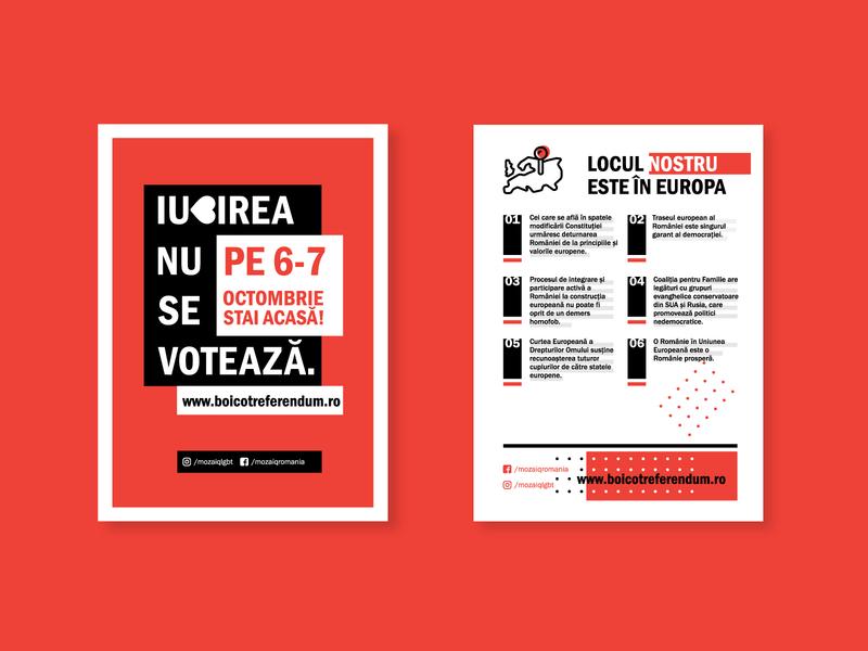 LGBT Referendum - Romania art flat vector design minimal icon branding linework poster layout poster design referendum flyer layout flyer design flyer poster lgbt