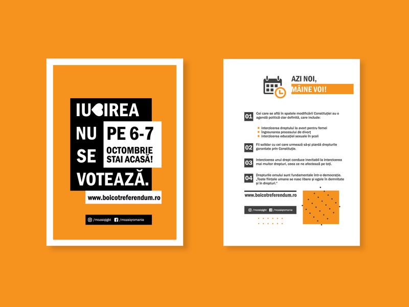 LGBT Referendum - Romania icon illustration graphic design clean minimal art design linework vector flat branding minimalist poster lgbt poster layout poster design minimalist flyer flyer design flyer layout flyer poster