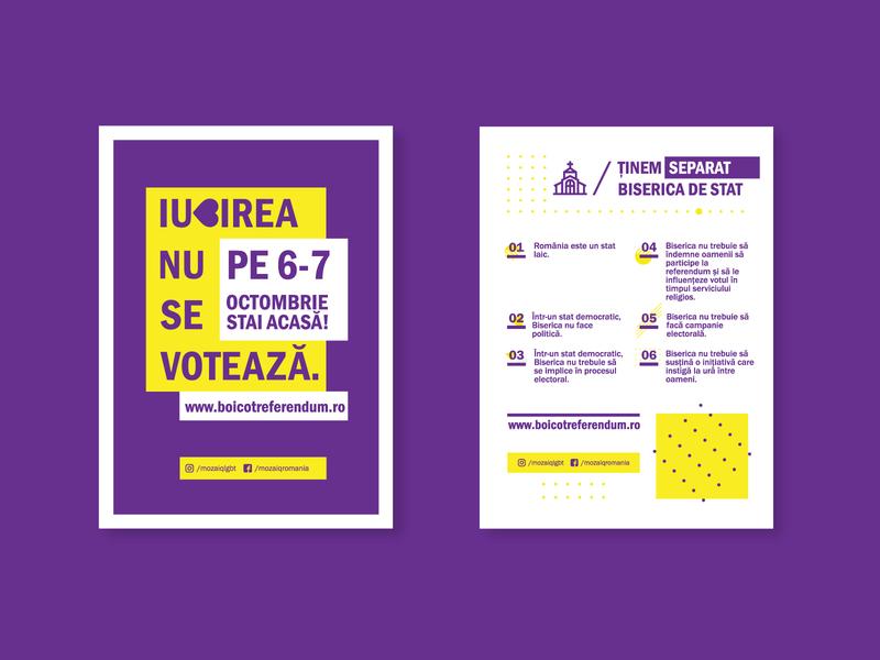 LGBT Referendum - Romania flat vector graphic design design clean minimal illustration icon linework art poster art flyer artwork flyer design poster design poster layout flyer layout minimalist poster minimalist flyer poster flyer