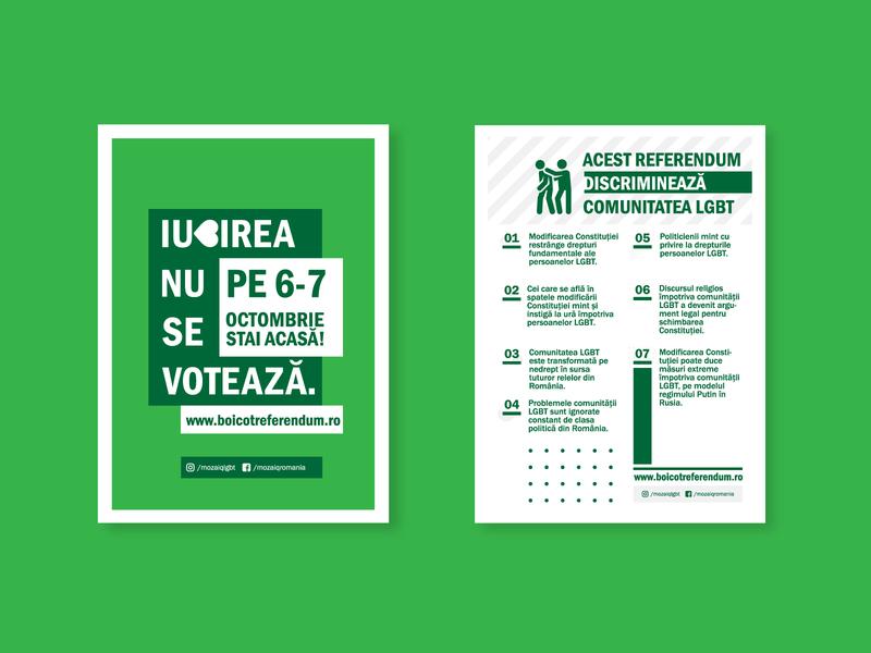 LGBT Referendum - Romania graphic design clean flat linework art design minimal icon illustration branding lgbtq poster design flyer design poster artwork flyer artwork poster layout flyer layout poster flyer lgbt