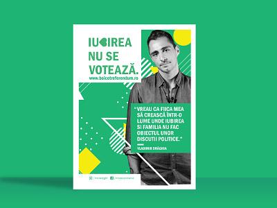 LGBT Referendum - Romania icon flyer design illustration clean graphic design minimal flat design linework art vector branding poster collection poster challenge flyer layout poster layout flyer designs poster design flyer poster