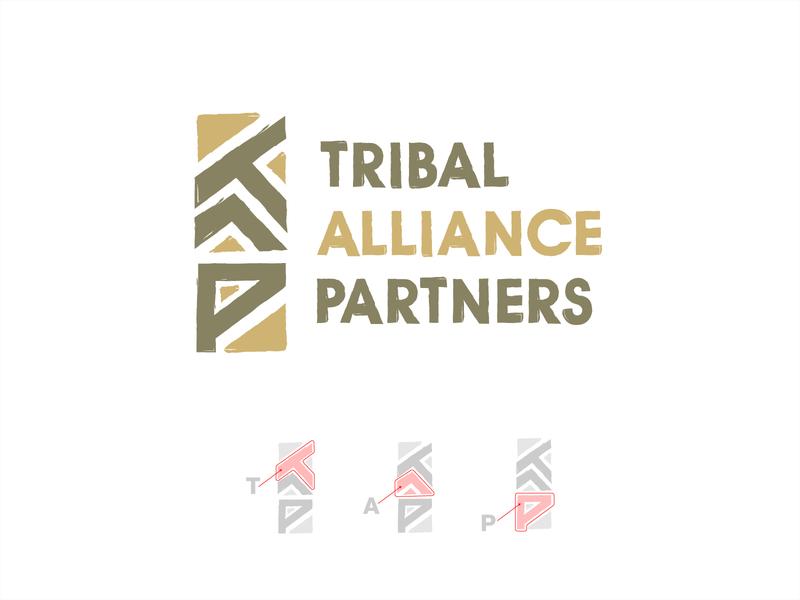 Tribal Alliance Partners logotype minimalist logo logomark art typography linework flat icon vector clean graphic design logo design logo minimal illustration branding ngo logo tribe logo amerindian logo tribal logo
