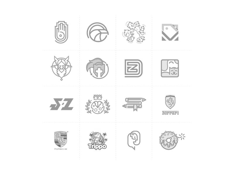 Behance - Logofolio 2018 logo minimal flat art brand identity branding agency minimalist logo black and white logo logotype logomark logo design concept linework graphic design vector icon illustration branding logo design branding logo design logofolio