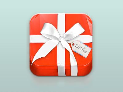 Xmas present! iphone icon logo app webapp xmas 25dec ny holidays present gift 3d cinema4d render