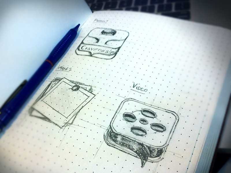 Icon sketches milk video iphone app icon ios pictures images image film bottle plastic pin