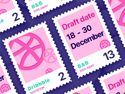 Twp invites by Volcano violet volcano bb stamp pink invitation invites dribbble