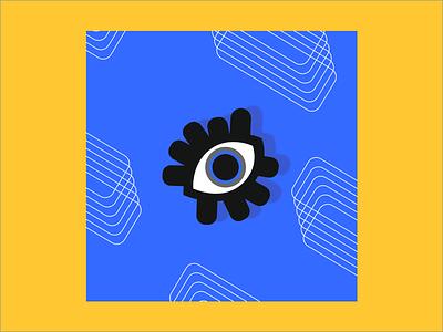 Attractive eyes colar sticker vi design graphic tag brand illustration eyes