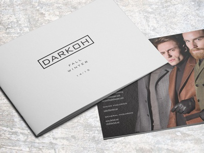 DARKOH Lookbook Fall+Winter 14/15 fashion design lookbook collection indesign
